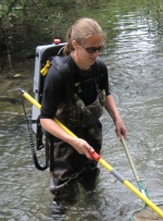 Electrofishing in Cedar Creek, PA