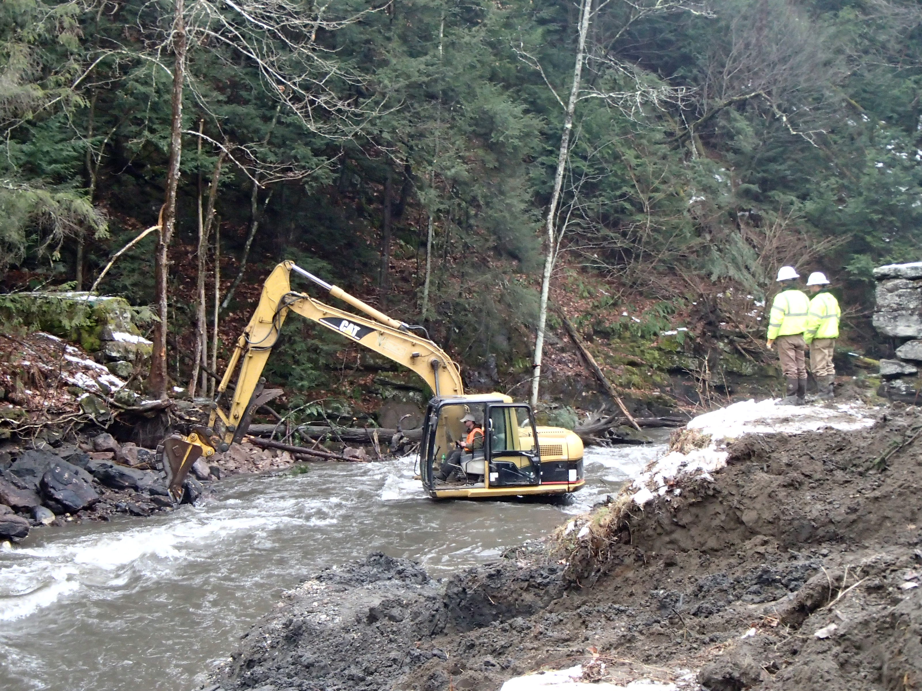 Dam removal at Fall River in Greenfield, MA