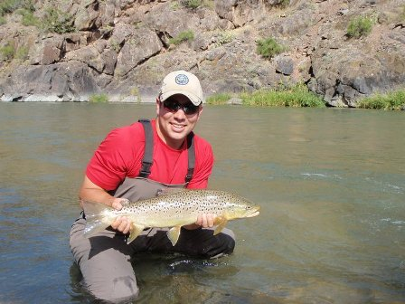 Brian in Gunnison Gorge with brown trout