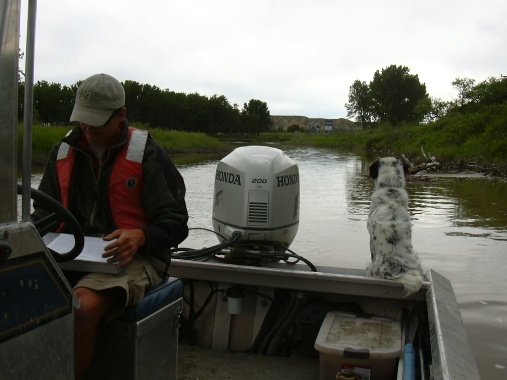 Sampling the Marias River, MT