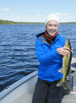 Caitlin Peterson with walleye