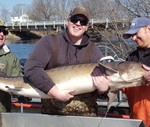 Dan Dembkowski with a sturgeon