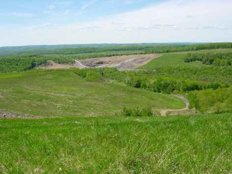 reclaimed and active surface mines in Pennsylvania