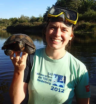 Ellery Ruther Lassiter with a Wood Turtle