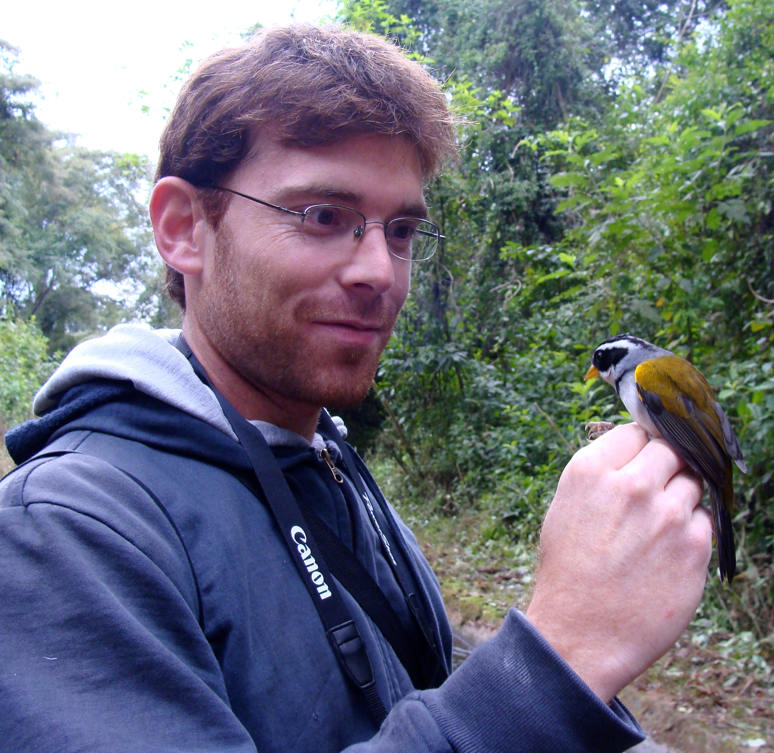 Native of Montevideo, Uruguay. Juan Andres holds degrees in Biology and Biochemistry from the Universidad de la Republica de Uruguay. His research interests include population ecology and conservation of mammals and birds. For his thesis research, Juan Andres is examining avian community ecology in native grasslands and timber plantations in northern Uruguay.