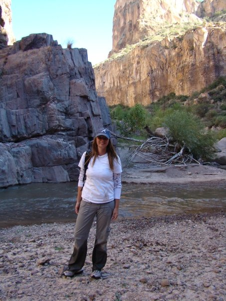Joy Price in Aravaipa Canyon, Arizona