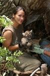 Janess Vartanian with Mountain Lion Cub