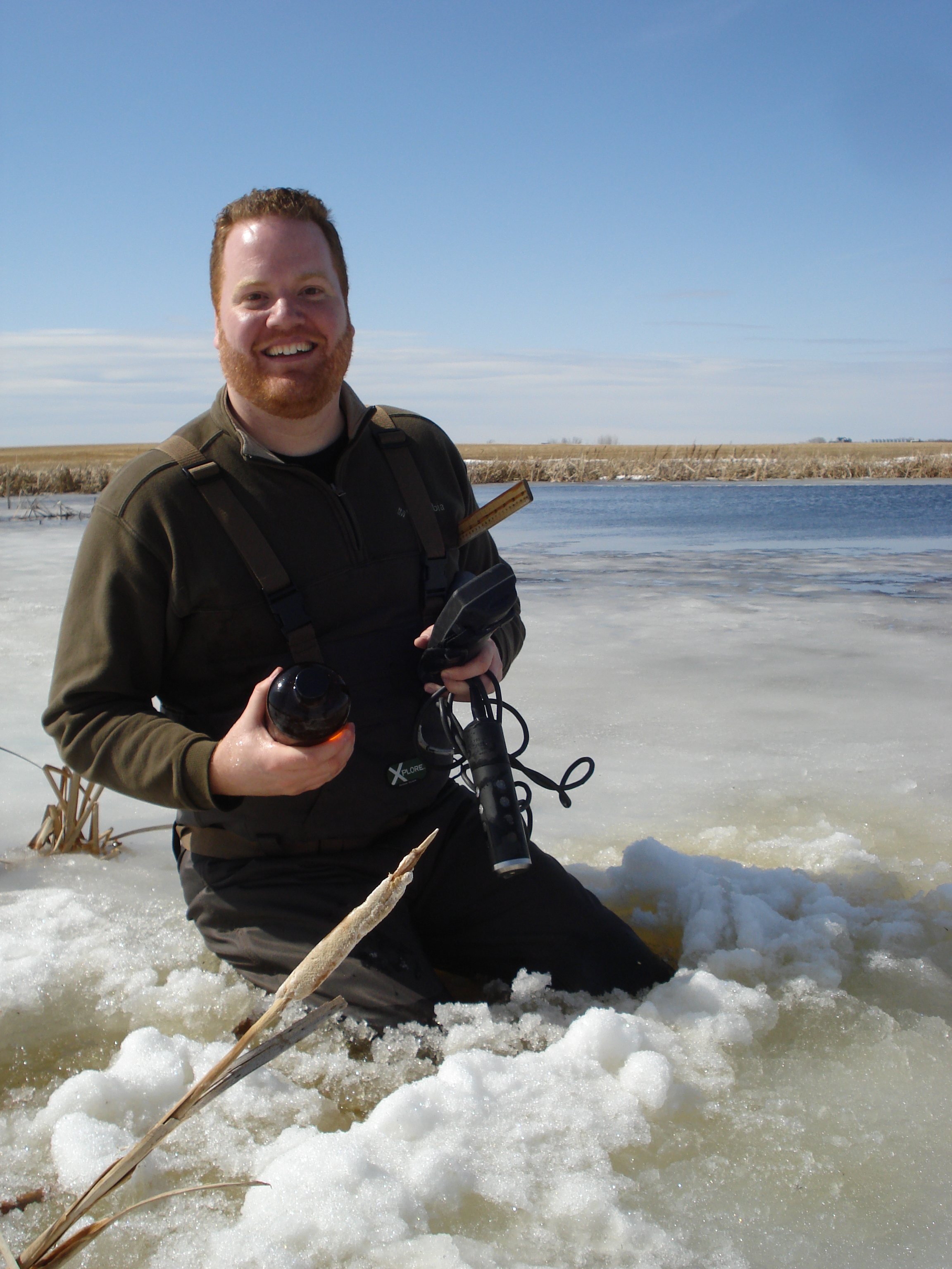 Sampling wetlands in Saskatchewan (Spring 2014)