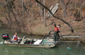 Electrofishing the Caney Fork River
