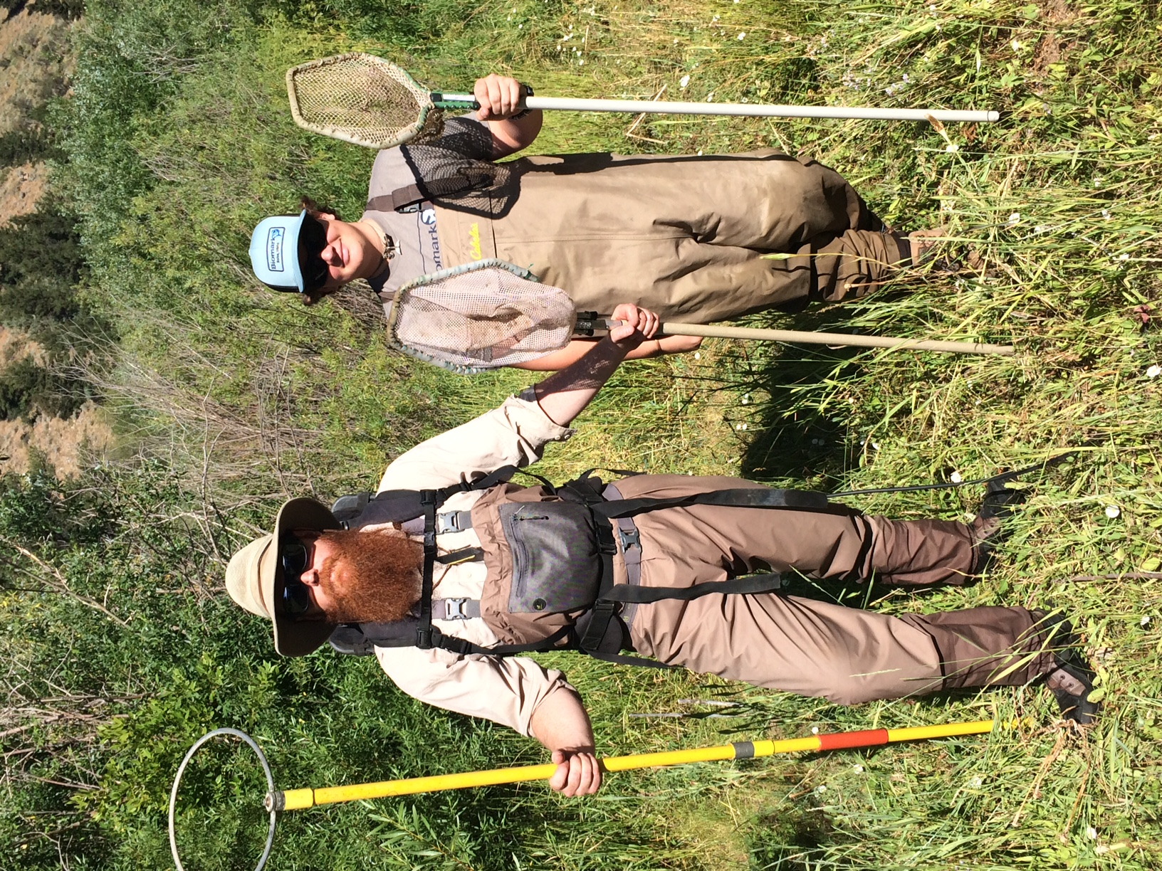Dr. Timothy Walsworth, Assistant Professor of Quantitative Aquatic Ecology at Utah State University and volunteer Isaak MacKinnon sampling the population of native Bonneville cutthroat trout thriving in Righthand Fork of the Logan River, UT after the removal of non-native brown trout.