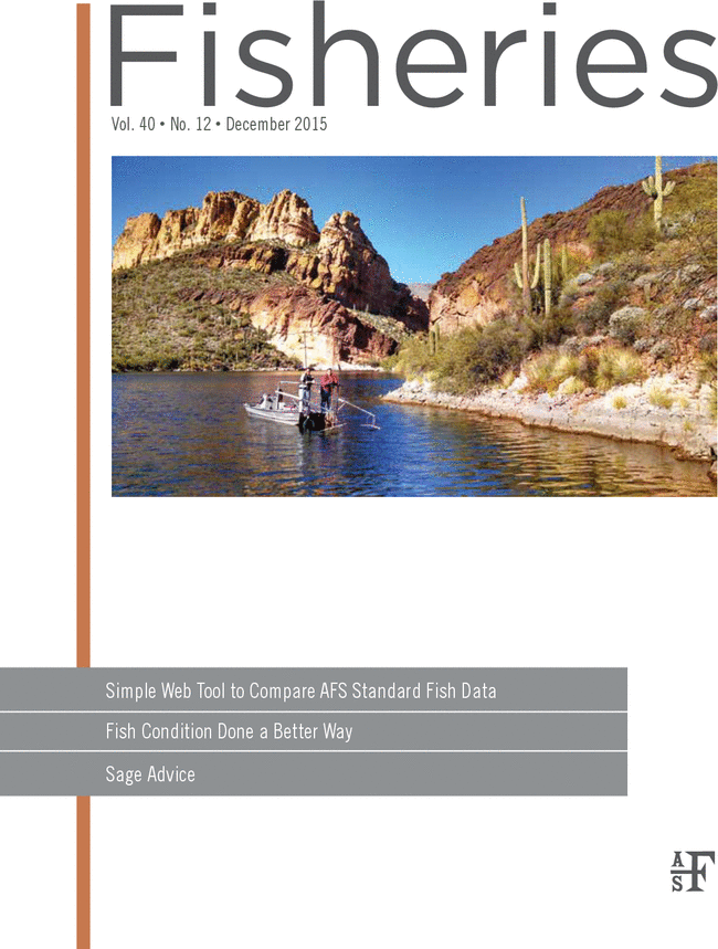 Arizona Coop Unit research on the cover of Fisheries Magazine.