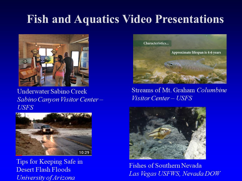 Examples of educational videos about desert fishes by students and staff of the Arizona Coop Unit.